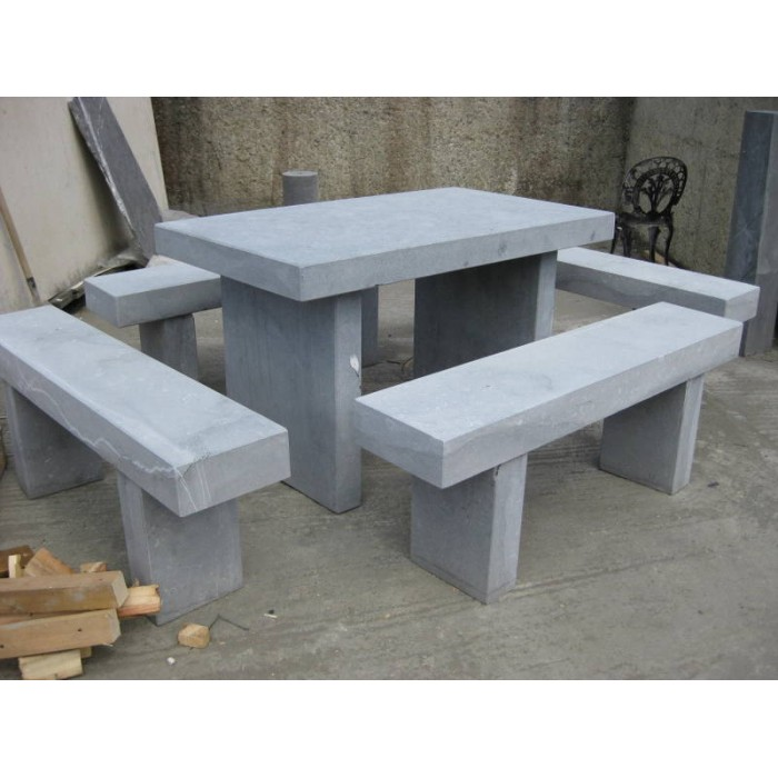 Attrayant Limestone Square Table U0026 Stone Benches