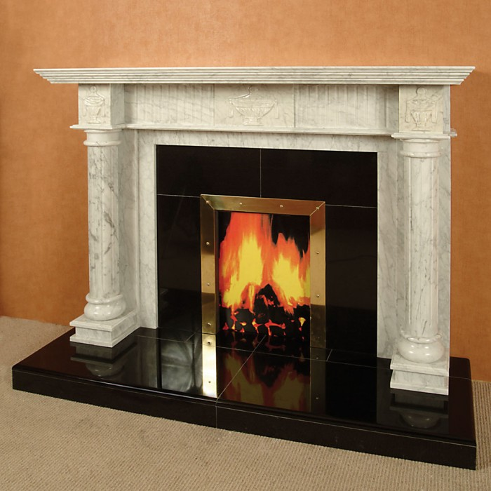 The constantine marble fireplace marble fireplace for Marble mantels for sale