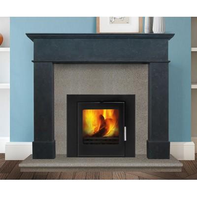 Balmoral Grande - Rio Cinza Limestone Fireplace