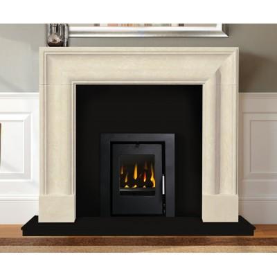 Bolection Limestone Fireplace