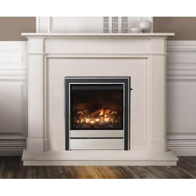 Nantucket - Limestone Fireplace