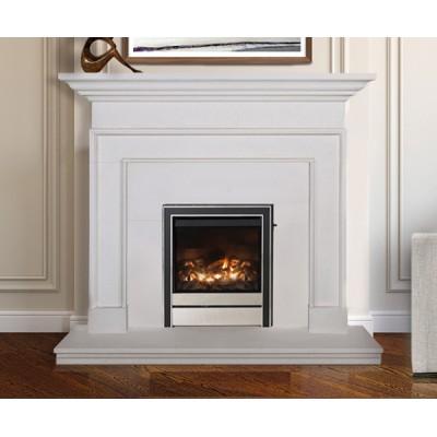 Treviso - Limestone Fireplace