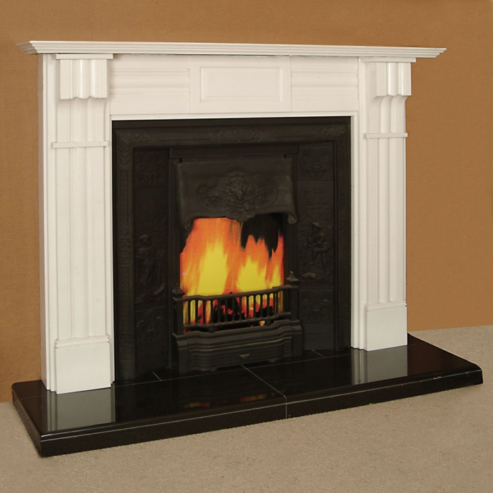 Room with fireplace paul bullock for Firerock fireplace prices
