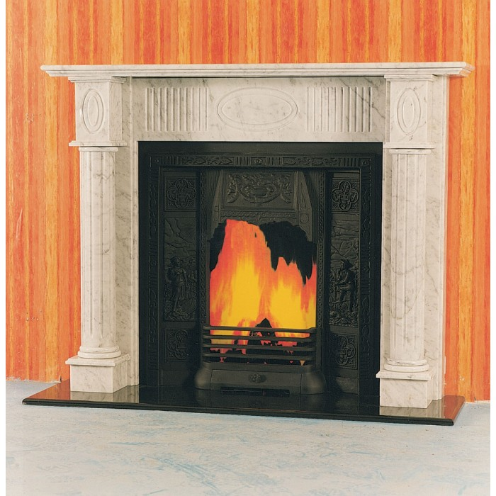 The canberra marble fireplace marble fireplace kilkenny for Marble mantels for sale