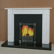 The Regency Bullseye Marble Fireplace