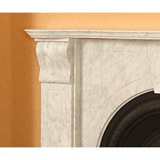 The Adelaide White Marble Fireplace