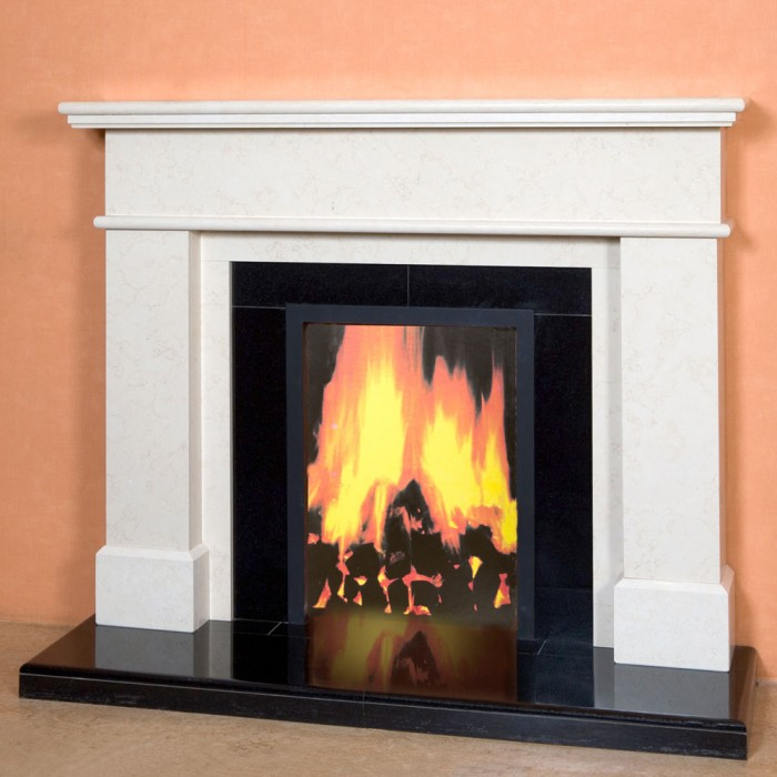 The seville marble fireplace marble fireplace kilkenny for Marble mantels for sale