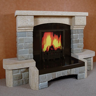 The Cartagena Sandstone Fireplace