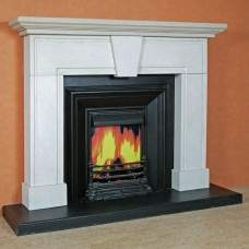 The Estoril Limestone Fireplace