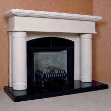 The Porto Limestone Fireplace