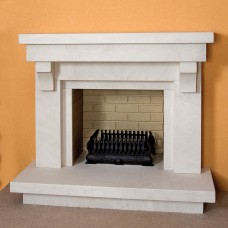 The Ankara Limestone Fireplace