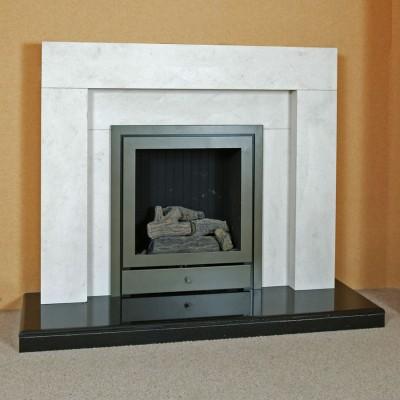The Grove Limestone Fireplace