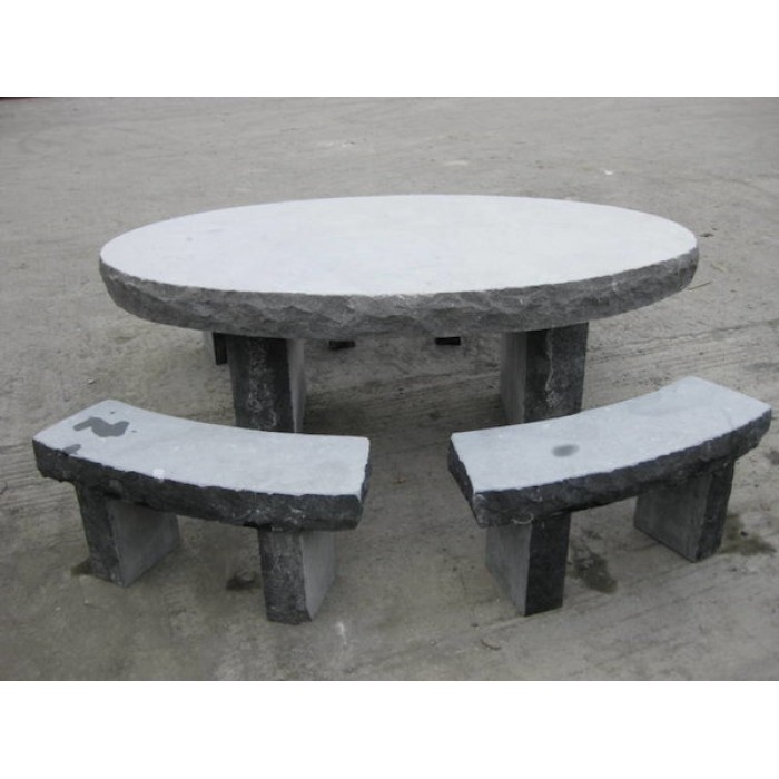 Delicieux Limestone Oval Table U0026 Seating