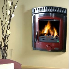 Dunmore Inset Stove - Red Enamel
