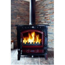 Blackrock Red Enamel Stove